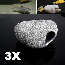 3PCS Cichlid Stones Aquarium Ceramic Rock Cave Ornament Decor For Fish Tank Pond