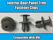 10x Clips Para VW Transporter T4 T5 Panel guarnecido de puerta Tornillo interior gris claro