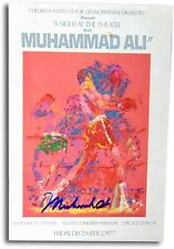 Muhammad Ali Autographed 1977 Theater Program Blue Ink JSA Z68878