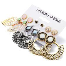 Bohemian Rhinestone Crystal Drop Dangle Earring Set Women Boho Ear Stud Jewelry
