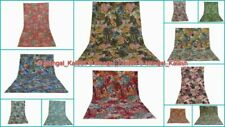 Paisley Print Kantha Quilt Cotton Vintage Blanket Bedspread Bed Sofa Cover Quilt