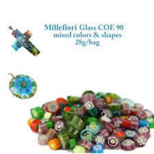 3bags Frit Millefiori Glass & Millefiori Glass bead making in Microwave Kiln