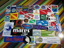 vtg 1980s 1990s Scuba Diving surf sticker or patch - PADI Mares Calypso Barbados