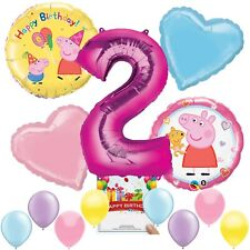 Peppa Pig Party Supplies Balloon Decoration Bundle for 2nd Birthday