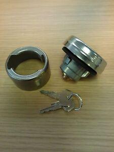Lockable Fuel Cap + Aluminium Weld on Filler Neck End Bayonet Locking COYALL