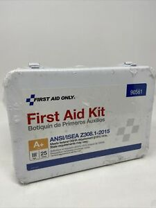 First Aid Only First Aid Kit General Purpose Metal Case 90561 25 Person 141 PCS