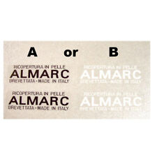Almarc leather bar wrap decal white or black one set