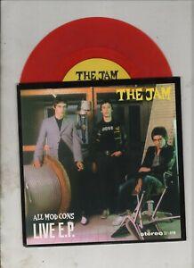"THE JAM All Mod Cons Live 7"" EP w/PS MOD PUNK Paul Weller Red Vinyl"