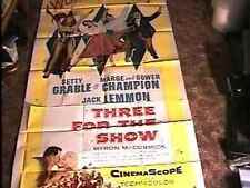 3 FOR THE SHOW 41X81 3SH MOVIE POSTER '54 BETTY GRABLE