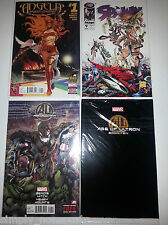 lot 4X Marvel AVENGERS AGE OF ULTRON #1 FOIL+BOOK 10+SPAWN #9 1ST + #1 ANGELA
