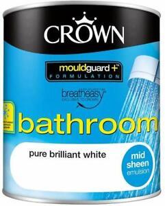 Crown Mould Guard + Bathroom Paint 1litre in Brilliant White