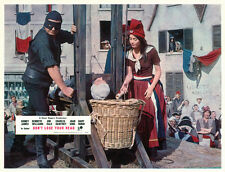 Carry On Don't Lose Your Head 11x14 lobby card guillotine scene