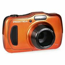 PRAKTICA LUXMEDIA WP240 WATERPROOF DIGITAL COMPACT CAMERA-ORANGE (20MP,4xZOOM
