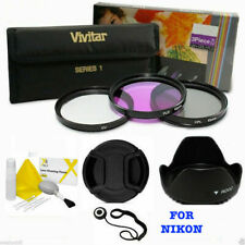 55MM UV CPL FLD HD FILTER KIT PLUS ACCESSORIES FOR NIKON DSLR CAMERA D3400 D5600