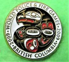 2009 WORLD POLICE And FIRE GAMES VANCOUVER 1st NATIONS LOGO Pin