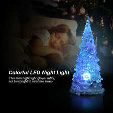 LED Night Light LED Crystal Color Changing Mini Christmas Tree Lamp Home Decor