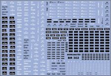 More details for modelmaster br302 br wagon numbers set 2 1948-65 decals / waterslide transfers
