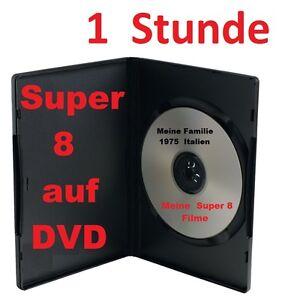 1 STUNDE SUPER 8 auf DVD DIGITALISIEREN Filmbetrachter Kopieren FIlmtransfer