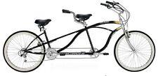 New 21 Speed Tandem Beach Cruiser Bike Bicycle Black