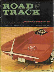 Road & Track 1960 May fiat sunbeam 1932 packard racing