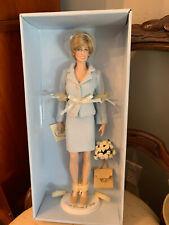 Nrfb The Franklin Mint Princess Diana Portrait Doll in Powder Blue Chanel Suit