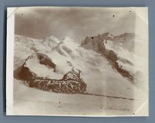 Suisse, Zermatt, Le Mont Rose, Castor et Pollux  Vintage citrate print. Vintage