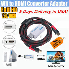 Full HD Wii To HDMI 1080P Upscaling Converter Adapter With High Speed HDMI Cable