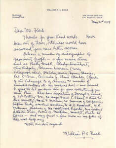 William P S Earle D.1972 Director Signed Letter