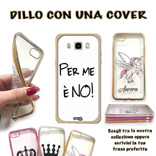 COVER BORDO ORO FRASE NO PER SMARTPHONE CELLULARE SAMSUNG GALAXY J3 2017