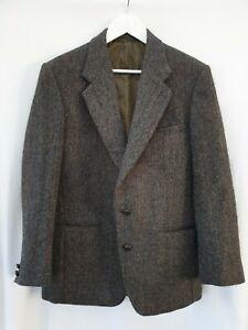 HARRIS TWEED Mens 40R Handwoven Wool Jacket Blazer Vintage Exc Con