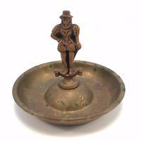 Vintage Antique Ashtray Pipe Brass England Sir John Hawkins Introduced Smoking