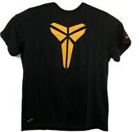 NIKE DRI-FIT Kobe Bryant Black Yellow Shield Logo T-shirt Men's Size 3XL Mamba