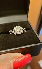 Diamond cluster engagment ring