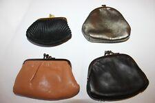 4 purses black fabric,metallic fauxLeather,bottom row brown leather,blackLeather