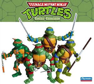 "Playmates 6"" TMNT Classics Collection Cartoon Leo Don Raph Mikey SET Toys R Us"