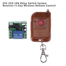24V 1CH Garage Door Remote Control Switch Relay Wireless Transmitter + Receiver
