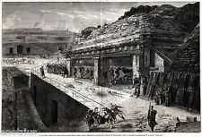 Gaeta: Francesco II,Re di Napoli,Visita Nuove Batterie Blindate.Grandissima.1860