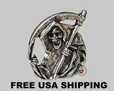 GRIM REAPER PIN  * MADE IN THE USA * FREE USA SHIP * MOTORCYCLE JACKET PIN
