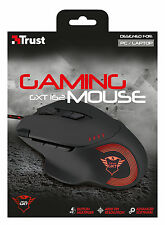 TRUST 21186 ILLUMINATED 9 PROGRAMMABLE BUTTON 250-4000DPI GAMING MOUSE GXT162