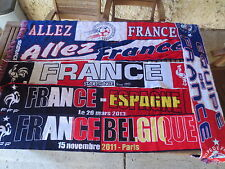 Lot 6 Echarpe EQUIPE de FRANCE football FFF match Belgique Espagne supporter