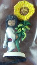 DeGrazia Sunflower Boy Bronze Miniature Figurine by Olszewski GOEBEL NIB 1985