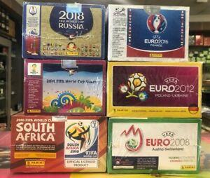 Mega Paket 600 Packs Panini je 100 WC WM 2018 2014 2010 EC EM 2016 2012 2008