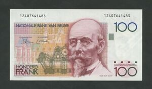 BELGIUM 100 francs 1982 Krause 142 crisp Uncirculated  Banknotes