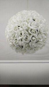 ROSE POMANDER Ivory FLOWER BALL 25CM total circumference 70cm