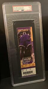 2002 NBA PLAYOFFS UNUSED TICKET Game 5 Shaquille O'Neal PSA 5 PHANTOM TICKET