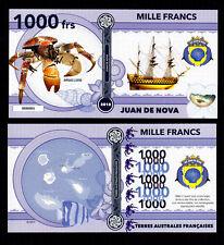 ILE JUAN DE NOVA ● TAAF / COLONIE ● BILLET POLYMER 1000 FRANCS ★ N.SERIE 000004
