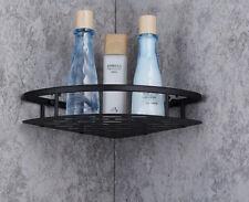 Single Aluminum Bathroom Corner Shower Shelf Rack Storage Tidy Wall Basket Black