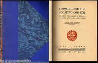 MEMORIE DI AGOSTINO CODAZZI SUI SUOI VIAGGI PER L'EUROPA E NELLE AMERICHE - 1930