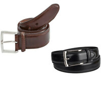 Dockers 11DK02A6 Men's Genuine Leather Edge Double Stitch Belt