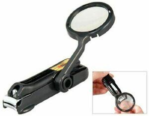 Toe Nail Cutter Scissors Magnifier Clipper Pedicure Tool Finger Steel Nipper Us